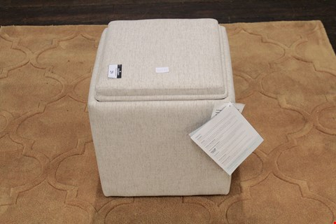 Lot 3 QUALITY DESIGNER BEIGE FABRIC TAYLOR STORAGE CUBE RRP £279