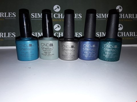 Lot 9 LOT OF 5 ASSORTED CND SHELLAC