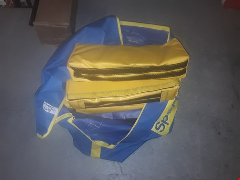 Lot 9079 BRAND NEW SPORTS HALL BAG OF SMALL VELCRO OBSTACLES  IN BLUE AND YELLOW