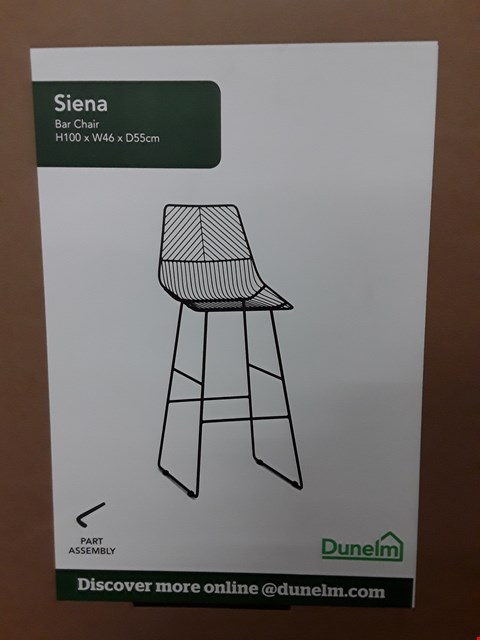 Lot 7075 BOXED SIENA BAR CHAIR