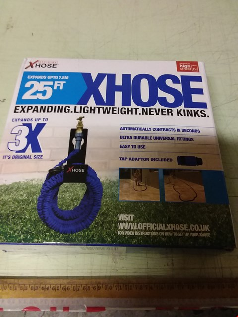 Lot 1209 LOT OF 13 X BOXED XHOSE 25FT EXPANDING GARDEN HOSES