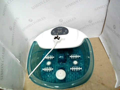 Lot 13713 MAXKARE FOOT SPA MASSAGER WITH HEAT, BUBBLES AND VIBRATION