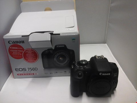 Lot 1003 BOXED CANON EOS 750D CAMERA  RRP £929