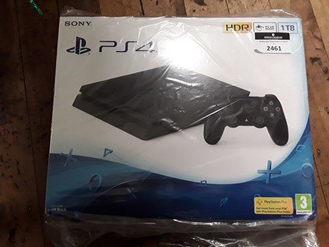 Lot 2461 SONY PLAYSTATION PS4 1TB HDR BLACK SLIM CONSOLE,