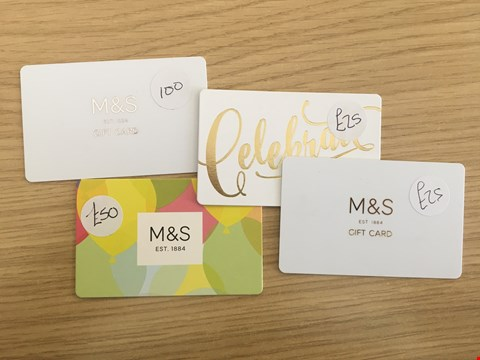 Lot 26 4 MARKS & SPENCER VOUCHERS.  TOTAL VALUE £200