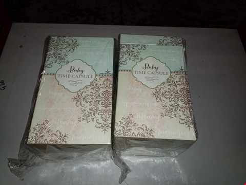 Lot 14005 LOT OF 2 BABY TIME CAPSULES