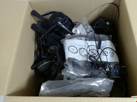 Lot 7742 QUANTITY OF ASSORTED GAMING HEADSETS AND EARPHONES 30 X 30 X 30CM BOX
