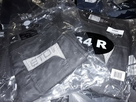 Lot 2037 LOT OF APPROXIMATELY 10 BRAND NEW MEN'S DESIGNER JEANS TO INCLUDE ASSORTED SIZES RRP £200