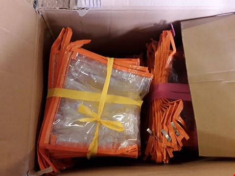 Lot 667 BOX OF APPROXIMATELY 300 CLEAR AND ORANGE WASH BAGS