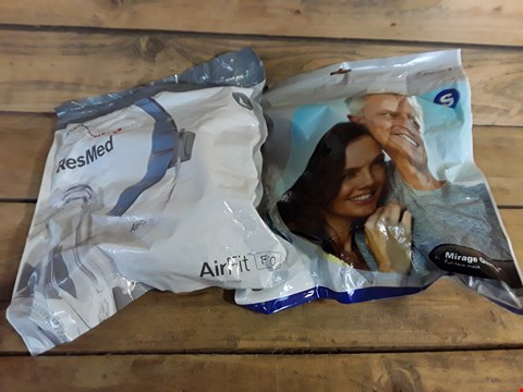 Lot 9476 LOT OF 2 RESMED FULL FACE MASKS TO INCLUDE MIRAGE QUATTRO AND AIRFIT MODELS