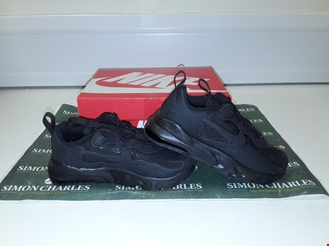 Lot 3303 NIKE AIR MAX 270 REACT TODDLER TRAINERS - BLACK SIZE 9.5
