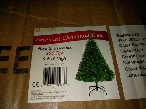 Lot 7052 TWIDDLERS ARTIFICIAL CHRISTMAS TREE 120CM