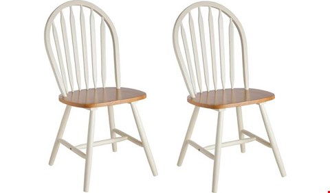 Lot 2026 GRADE 1 BOXED SET OF 4 NEW KENTUCKY GREY/OAK DINING CHAIRS