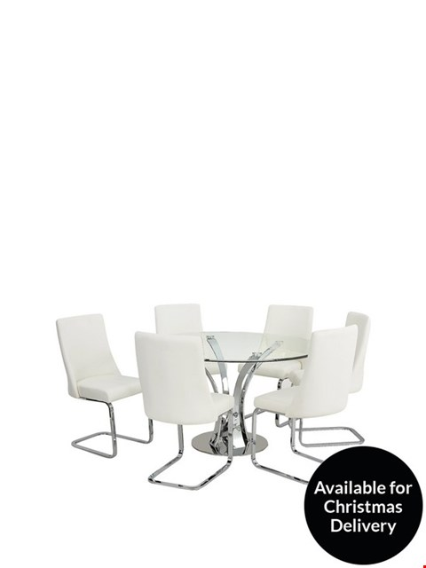 Lot 2062 BOXED GRADE 1 SET OF 2 ALICE CLEAR/WHITE CHAIRS ( 1 BOX )