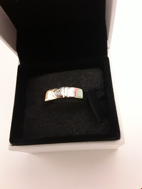 """Lot 205 18CT WHITE GOLD """"BELT"""" RING SET WITH BRILLIANT CUT DIAMONDS WEIGHING +/-0.07CT"""