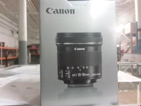 Lot 7140 BOXED GRADE 1 CANON EFS-10-18MM F/4.5 -5.6 IS STM  RRP £389.99