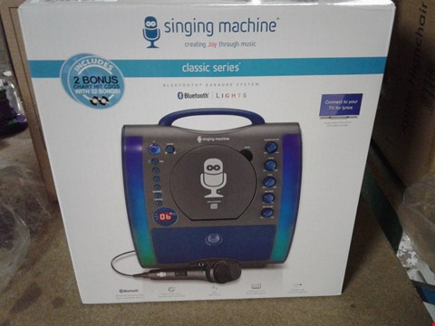 Lot 276 THE SINGING MACHINE CASSIC SERIES BLUETOOTH KARAOKE SYSTEM RRP £90