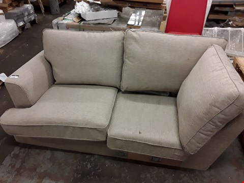 Lot 158 BEIGE FABRIC 2-SEATER SOFA SECTION