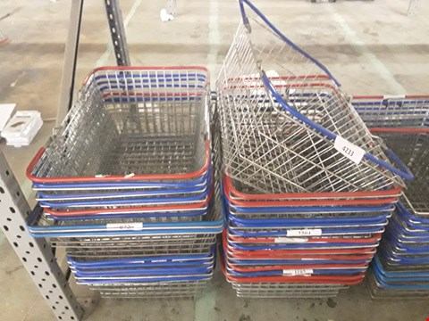 Lot 361 28 ASSORTED METAL WIRE BASKETS