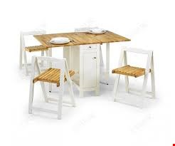 Lot 20 BOXED SAVOY WHITE AND NATURAL DINING SET