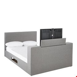 Lot 7049 BOXED GRADE 1 TALBOT DOUBLE TV BED FRAME - 3 BOXES