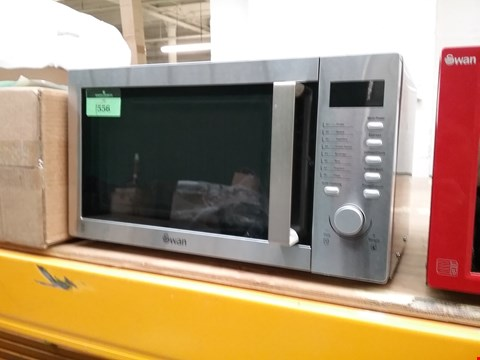 Lot 1556 SWAN 23L SOLO MICROWAVE OVEN SILVER RRP £250.00