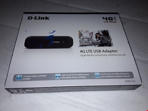 Lot 12451 D-LINK DWM-222 - USB ADAPTER 4G LTE/ 3G HSPA+ UNLOCKED FOR UK NETWORKS