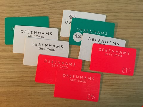 Lot 2 9 DEBENHAMS GIFT VOUCHERS.  TOTAL VALUE £220