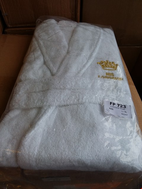 Lot 154 LOT OF APPROXIMATELY 18 LORDSHIP ROBES - WHITE SIZE L/XL (3 BOXES)