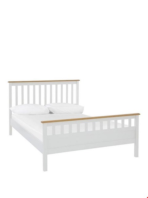 Lot 7058 BOXED GRADE 1 DAWSON HFE KING SIZE BEDFRAME IN WHITE (2 BOXES)