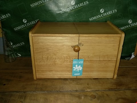 Lot 7058 HEVEA WOOD APOLLO BREAD BIN