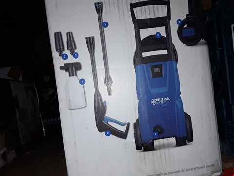 Lot 447 NILFISK C120 7-6 PATIO AND BRUSH PRESSURE WASHER - BLUE