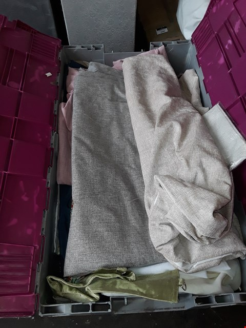 Lot 2041 A BOX OF APPROXIMATELY 30 ASSORTED CURTAINS
