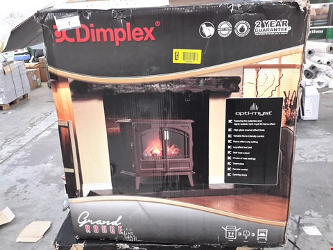 Lot 7 DIMPLEX OPTI-MYST GRANDE ROUGE STOVE HEATER WITH OPTY-MYST 3D FLAME EFFECT
