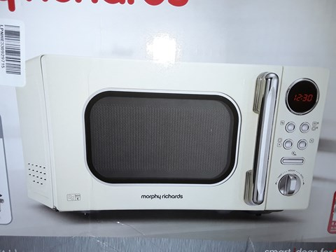 Lot 10136 MORPHY RICHARDS ACCENTS 20L 800W MICROWAVE CREAM