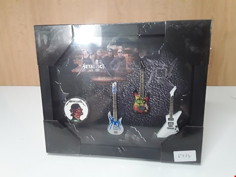 Lot 3217 METALLICA FRAMED MODEL GUITARS
