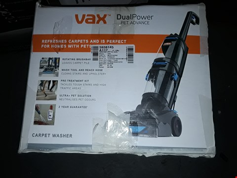 Lot 511 VAX DUAL POWER PET ADVANCE CARPET CLEANER