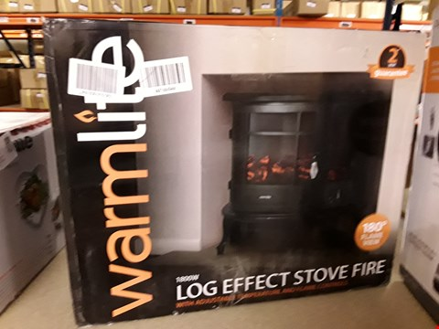 Lot 3036 WARMLITE 1800W LOG EFFECT STOVE FIRE