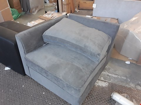 Lot 7118 DESIGNER GREY FABRIC SOFA SECTION