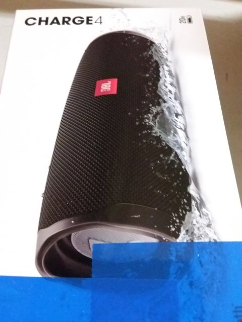 Lot 12040 JBL CHARGE 4 PORTABLE BLUETOOTH SPEAKER AND POWER BANK WITH RECHARGEABLE BATTERY