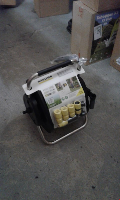 Lot 7732 BRAND NEW BOXED  KARCHER WALL MOUNTED HOSE REEL  RRP £63.00