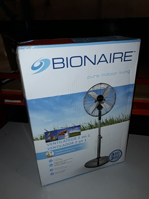 Lot 111 BIONAIRE BASF1516 DESK AND STAND FAN RRP £99.99