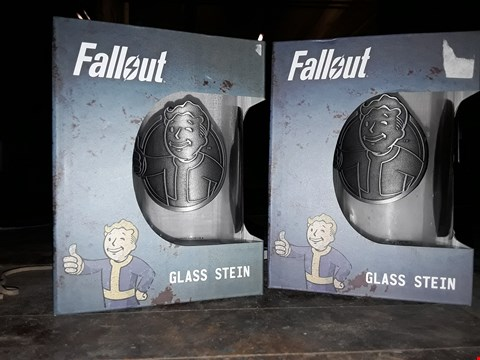 Lot 2253 2 BOXED BRAND NEW FALLOUT GLASS STEIN