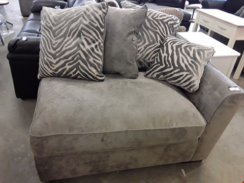 Lot 95 DESIGNER GREY FABRIC SOFA SECTION