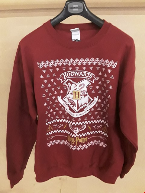 Lot 5018 BRAND NEW HARRY POTTER HOGWARTS BURGUNDY LARGE CHRISTMAS JUMPER
