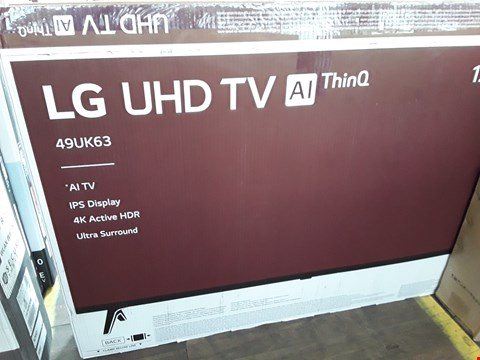 "Lot 1066 LG 49"" UHD 4K HDR SMART LED TELEVISION MODEL 49UK6300PLB RRP £900.00"