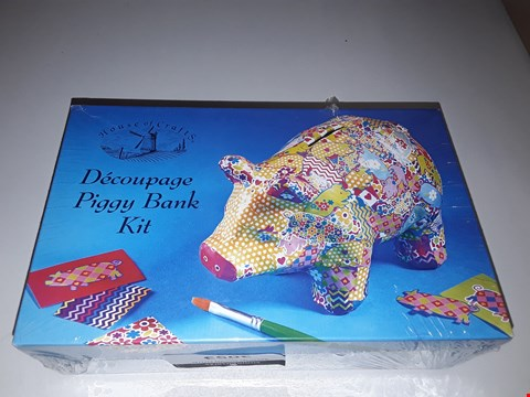 Lot 5015 BOXED HOUSE OF CRAFTS DECOUPAGE PIGGY BANK KIT