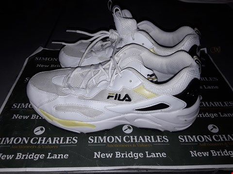 Lot 9031 FILA DESIGNER TRAINERS IN WHITE & YELLOW UK SIZE 6