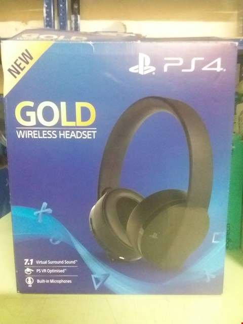 Lot 105 SONY PLAYSTATION GOLD WIRELESS HEADSET