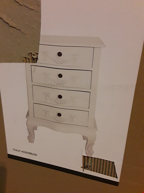 Lot 119 BOXED DESIGNER PERIOD STYLE BEDSIDE CHEST